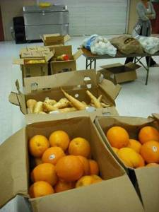Fresh produce ready for families at the new Marin pantry